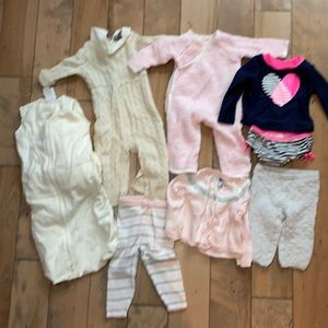 Lk NEW girls lot Neiman Marcus cashmere, J&J 6-12m